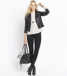 Meet your most valuable layer for fall, this glam faux leather jacket!