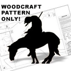 """Trail's End DIY Woodcraft Pattern #1499 -  A powerful Native-American figure. Very popular! 68""""H x 68""""W.   Pattern by Sherwood Creations #woodworking #woodcrafts #pattern #yardart #crafts #shadow #native #horse"""