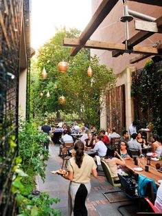 Not an adorable alley in Europe! It's Philly, with wonderful local ingredients. Talula's Garden
