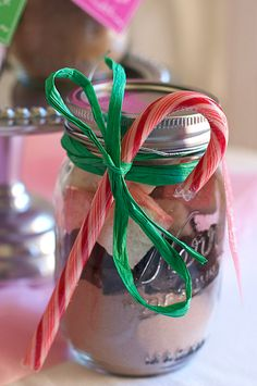 Homemade marshmallows and hot cocoa mix in a jar!