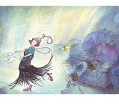 Bespoke drawing of lady & rabbit for children's book