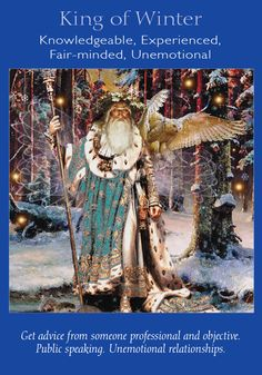 Oracle Card King of Winter   Doreen Virtue   official Angel Therapy Web site