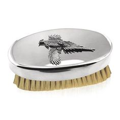 A smart pewter military brush with pure boar hair bristles. Military Fashion, Military Style, Gifts For Him, Great Gifts, Pewter, Hairbrush, Pure Products, Pheasant, Tableware