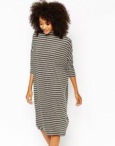 Monki Oversized Stripe Jersey Dress