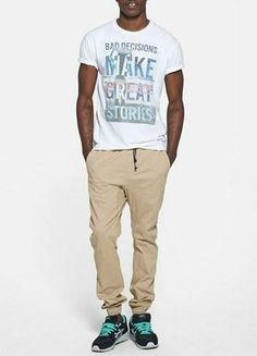 Weekend wear | Graphic tee + jogger chinos