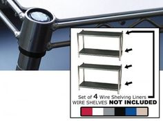 "Wire Shelving Liners 14 Inch x 36 Inch Set of 4 - enhance and improve your shelves (Black) (1/8""H x 14""W x 36""D) by Chadko,LLC. $84.99. Size: 1/8""H x 14""W x 36""D. Color: Black. Enhance your living environment, cover up clutter, and create an affordable ""designer look"" with these dynamic Black Wire Shelving Liners. Sold in a set of 4, go ahead and add more function to your wire shelving unit (sold separately) with the outstanding, sturdy, durable, and always re..."