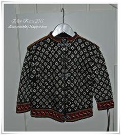 Helmønstret kofte str 4-5 år, fra Sandnes Garn Adidas Jacket, Athletic, Blouse, Jackets, Tops, Women, Fashion, Threading, Down Jackets