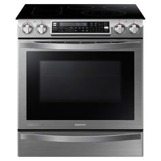 Slide-In Electric Chef Collection Range with Flex Duo Oven NE58H9950WS | Ranges
