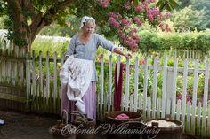 Taking a break as Weavers dye wool yarn red.  Colonial Williamsburg's Historic Area. Williamsburg, Virginia. Photo by David M. Doody
