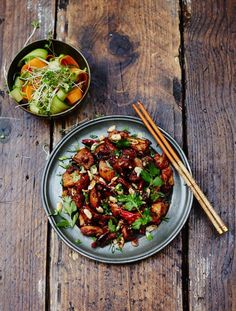 Kung Pao chicken | Jamie Oliver Even seems to be rather authentic, although adding honey seems a bit weird to me..