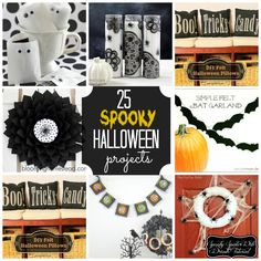 25 Spooky Halloween Projects -- Tatertots and Jello