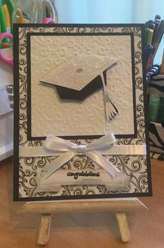 Graduation Card / Used Cricut Design Space for Cap and Spellbinders Tag / Handcrafted By Cindyswishestogive 2015