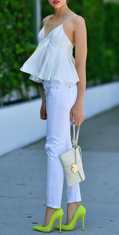 Kayture Is Wearing White Top From Finders Keepers, White Jeans From 7 For All Mankind