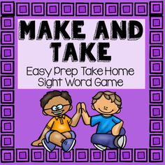 Sight Word Make and Take Game- FREEBIE
