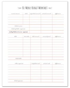 52 best budgeting worksheets images on pinterest organizers