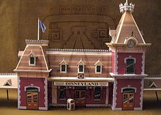 Main Street Train Station Paper Model - by Robert Nava / Disney Experience Disney Diy, Disney Crafts, Disney Ideas, Disney Stuff, Disney Christmas Village, Christmas Houses, Christmas Villages, Christmas Crafts, Disneyland Main Street