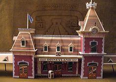 Main Street Train Station Paper Model - by Robert Nava / Disney Experience Disney Diy, Disney Crafts, Disney Ideas, Disney Stuff, Disney Christmas Village, Christmas Houses, Christmas Villages, Christmas Crafts, Disneyland Main Street