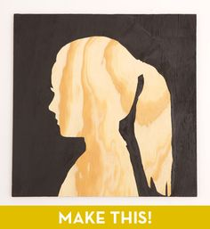 desired image/silhouette printed out to-size      plywood, cut to desired size      pencil      scissors      paintbrush      paint