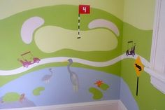 Baby boy room golf theme | Design Reveal: See Ya On The Green