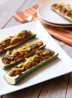 Recipe:  Grilled Zucchini Boats with Beef & Cheddar  — Recipes from The Kitchn