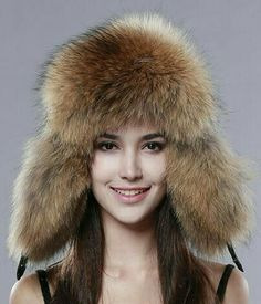3cefa1477e6 FURTALK Women s Russian Raccoon Lamb Leather Cap Ushanka trapper Hats for women  winter fur hat Ear Cap Cossack
