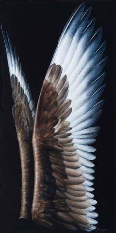 """ssdmmfr: Artist: James Guppy """"Skua Wings"""" Acrylic on Linen, 61 cm x 30 cm 2011"""