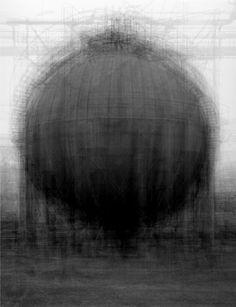 Idris Khan  every… Bernd & Hilla Becher Spherical Type Gasholder, 2003.    Photograph: /Courtesy of Victoria Miro Gallery, London
