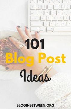 101 Blog Post Ideas