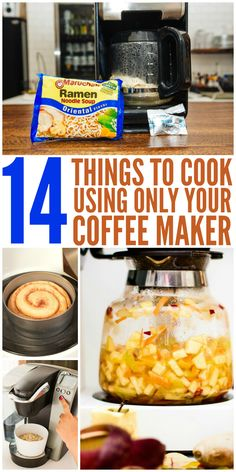 14 Foods to Cook Using Only Your Coffee Maker One Crazy House - Coffee Maker - Ideas of Coffee Maker College Food Hacks, College Meals, Dorm Food, Pod Coffee Makers, Hotel Food, Great Coffee, Coffee Ideas, Coffee Drinks, Coffee Coffee