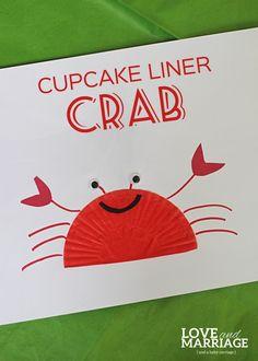 Super easy cupcake liner crab.