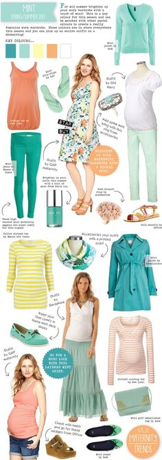 Maternity Fashion Trend - Spring/Summer 2013 - Mint - featured on my clog today! @Rebecca Chabot