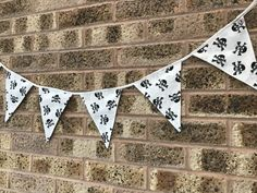 This bunting has now been added to the website.go and have a look at my Halloween section! Skull And Crossbones, Bunting, Halloween Crafts, Monochrome, Black White, Website, Fun, Handmade, Black And White