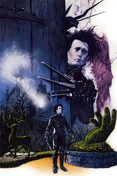 Edward Scissorhands by Movie Poster Artist James Goodridge