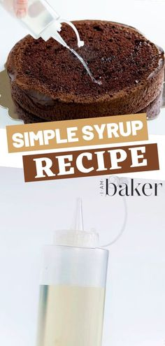 Simple syrup is a baker's secret weapon in keeping the cake moist throughout every stage of assembly and decoration. The recipe for simple syrup is easy and can be modified in a million ways!