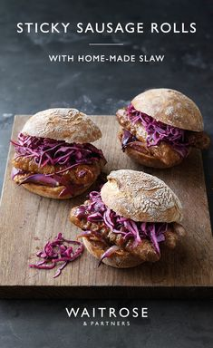 Perfect for parties, our sticky sausage and mustard rolls make the ultimate autumnal food. Easy Healthy Recipes, Fall Recipes, Vegetarian Recipes, Easy Meals, Cooking Recipes, Vegetarian Cooking, Easy Cooking, Healthy Cooking, Bratwurst