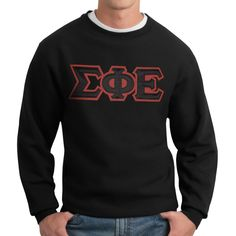 Campus Classics - SigEp Black Classic Crew Neck Sweatshirt: $44.95