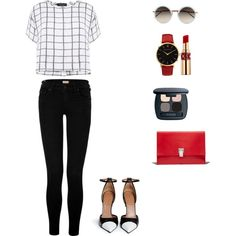 Untitled #13 by hiiexist13 on Polyvore featuring polyvore bellezza Bare Escentuals Yves Saint Laurent Linda Farrow Larsson & Jennings Proenza Schouler Myne True Religion Givenchy