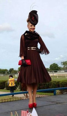 Image result for winter race day outfit