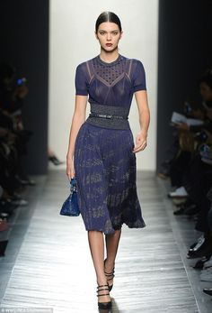 Kendall Jenner takes to the catwalk at Bottega Veneta MFW show | Daily Mail Online
