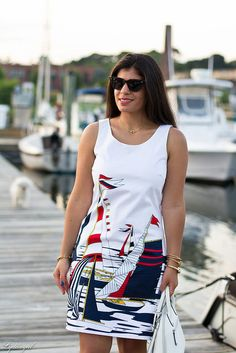 Sailboat dress // banana republic factory // nautical // street style // Connecticut fashion blogger