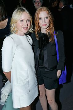 Naomi Watts and Jessica Chastain in Louis Vuitton