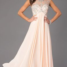 Floor Length Scoop Neck Dave and Johnny Dress