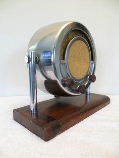 Vintage 1930s Old Stewart Warner Art Deco Chrome Antique Depression Era Radio   eBay