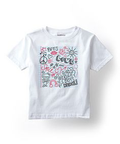 Look at this White 'Notebook Doodles' Tee - Toddler & Girls on #zulily today!