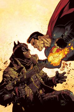 DC Comics have released their Batman v Superman: Dawn of Justice variant covers of their upcoming issues for March. The variants feature artists like Dustin Nguyen, Tony Daniel, Tony Harris, and Matteo Scalera. Anime Comics, Comic Anime, Arte Dc Comics, Dc Comics Art, Comic Books Art, Comic Art, Univers Dc, Comic Kunst, Im Batman