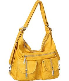 """Purse Boutique: Yellow """"Multi Pocketed"""" Backpack Convertible Tote, Purses"""