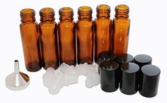 Oil Roll On Bottles Essential Oils*With Metal Funnel, Carrying Case and Labels* 6 Amber Glass Applicators*1/3 ounce (8-10ml)*Roller Ball for Perfume and Aromotherapy*Black Cap*Make Personal Blends Just Right Travel Kit http://www.amazon.com/dp/B013TLR24S/ref=cm_sw_r_pi_dp_Na62vb1PGW21P