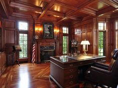 I Think I Could Be Productive in These Awesome Home Offices (36 Photos) - Suburban Men Office Interior Design, Home Office Decor, Office Interiors, Interior Decorating, Office Designs, Home Decor, Office Ideas, Office Layouts, Traditional Home Offices