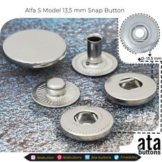 We are pleased to introduce to you our new production Alpha S Model 13,5 mm Spring Snap Button.