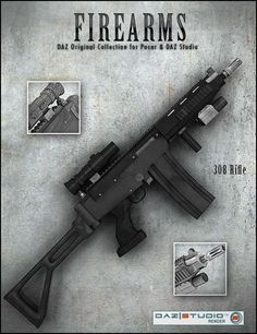 The Firearm Pack 3D Gun Models | FN .308 Rifle.